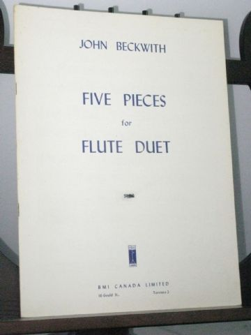 Beckwith J - Five Pieces for Flute Duet